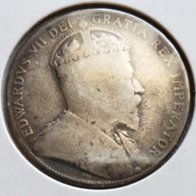 1908 Canadian Silver Half Dollar