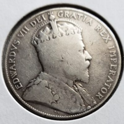 1909 VG Canadian Silver 50 Cent Piece