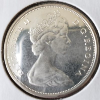 Front view dof 1966 Canadian Half Dollar