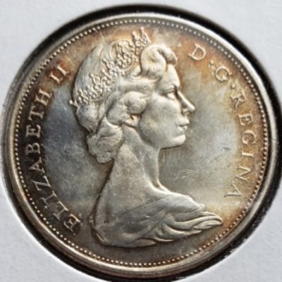 1965 MS63 Canadian Half Dollar w toning