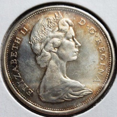 1965 MS63 Canadian Half Dollar w toning