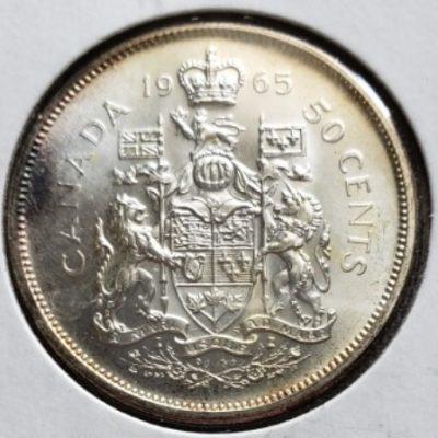 1965 PL Canadian Half Dollar