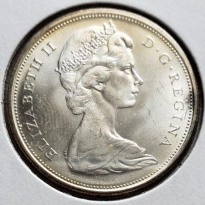 1965 Silver PL half dollar