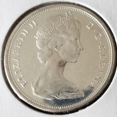 1965 PL Canadian Half Dollar face