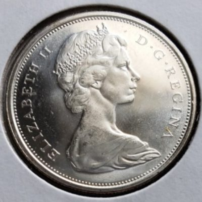 1966 MS63 Canadian Half Dollar