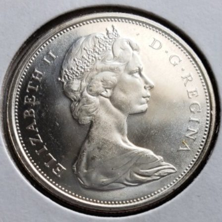 1966 MS63 Canadian Half Dollar