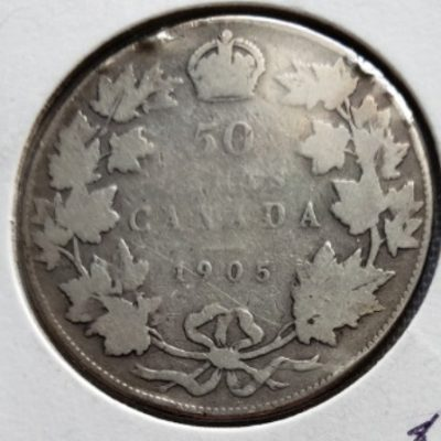 1905 Canadian Half Dollar