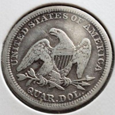 1854 Silver US Quarter