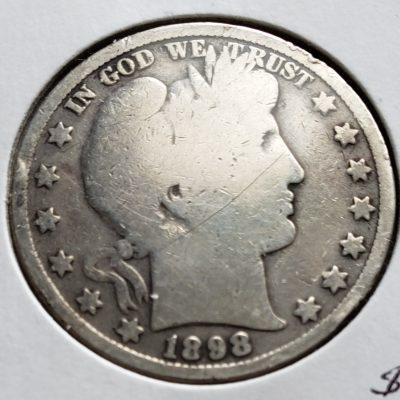 1898 Silver US Half Dollar