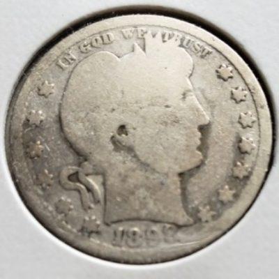 1898 Silver US Quarter