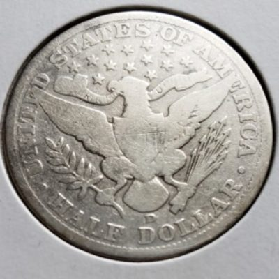 1906 D G4 Silver US Half Dollar