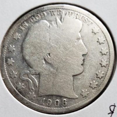 1906 D US Silver Half Dollar