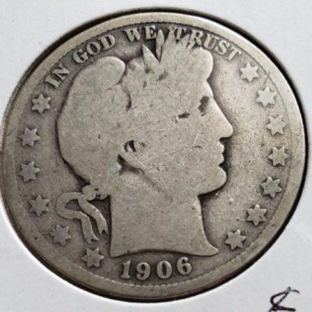 1906 US Silver Half Dollar
