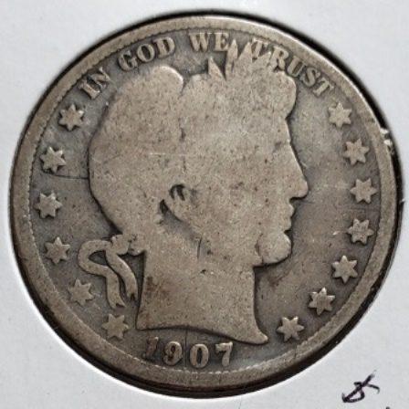 1907 O US Silver Half Dollar