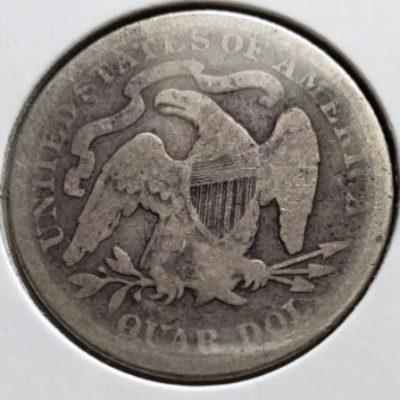 1876 Silver US Quarter