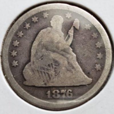 1876 US Silver Quarter